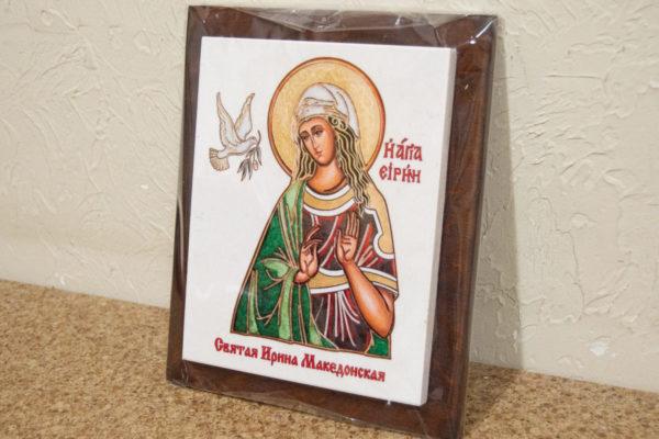 Сувенир Икона Святой Ирина Македонской № 01 на мраморе, фото 3