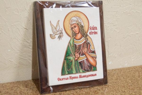 Сувенир Икона Святой Ирина Македонской № 01 на мраморе, фото 4