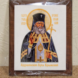 Икона Луки Крымского № 01 на мраморе, сувенир, каталог икон, фото 1