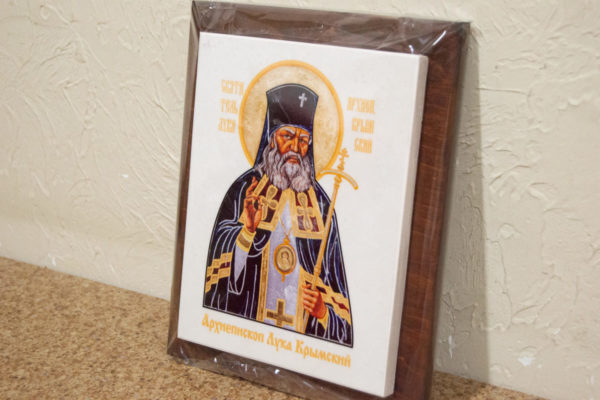 Икона Луки Крымского № 01 на мраморе, сувенир, каталог икон, фото 3