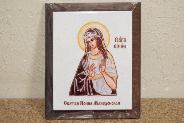 Сувенир Икона Святой Ирины Македонской № 02 на мраморе, фото 2
