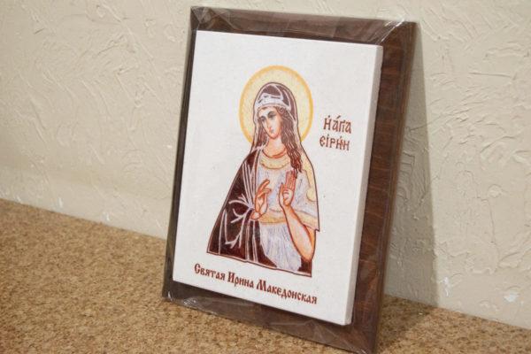 Сувенир Икона Святой Ирины Македонской № 02 на мраморе, фото 3