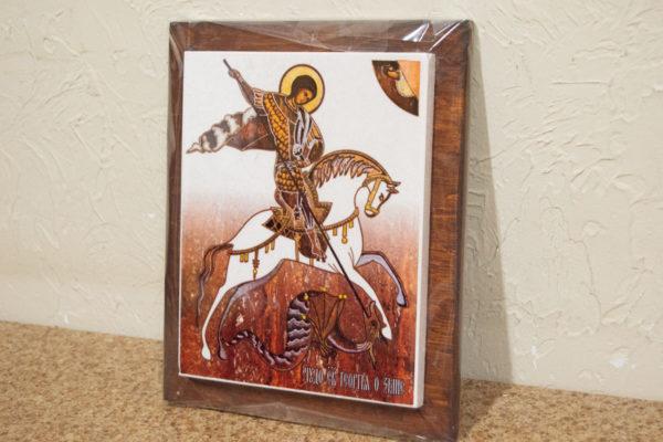 Сувенир Икона Святого Георгия Победоносца № 01 на мраморе, каталог икон, фото 2