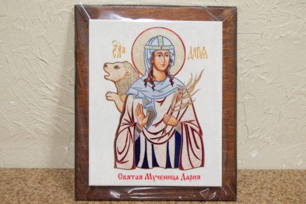 Сувенир Икона Святой Дарии № 01 на мраморе, каталог икон, фото 2