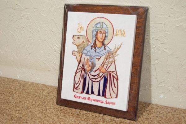Сувенир Икона Святой Дарии № 01 на мраморе, каталог икон, фото 3