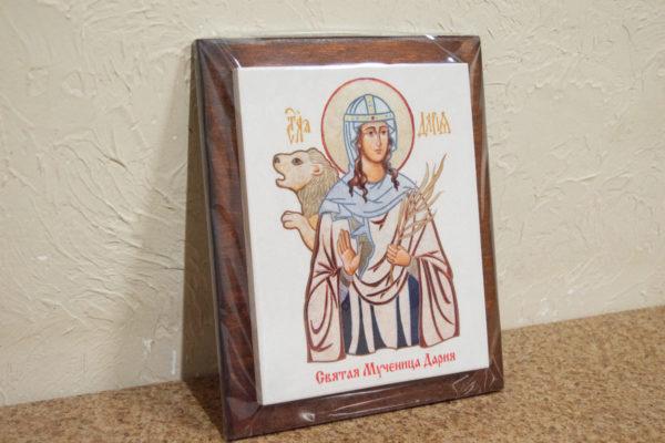 Сувенир Икона Святой Дарии № 01 на мраморе, каталог икон, фото 4
