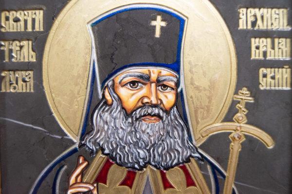 Икона Луки Крымского № 05 из мрамора, камня, каталог икон, фото 5