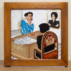 Каменная Картина Ева и ее автор № 01 (Сутин), изображение, фото 1