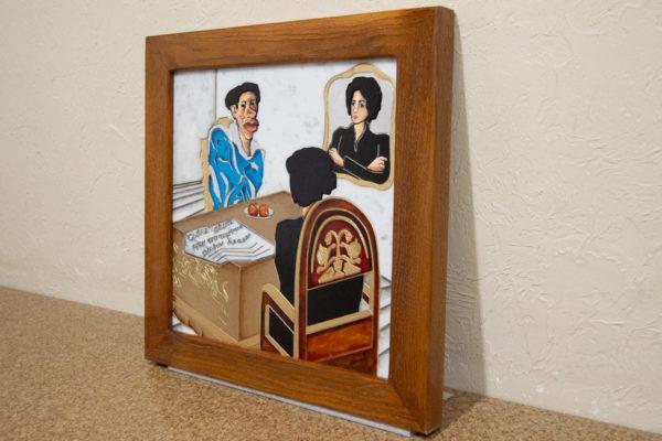 Каменная Картина Ева и ее автор № 01 (Сутин), изображение, фото 2