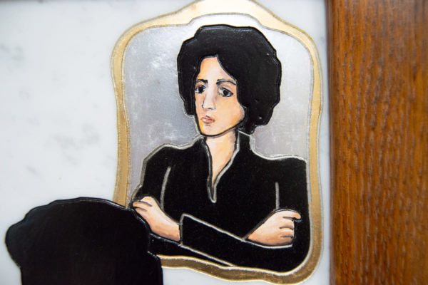Каменная Картина Ева и ее автор № 01 (Сутин), изображение, фото 6