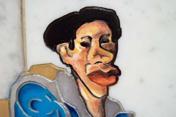Каменная Картина Ева и ее автор № 01 (Сутин), изображение, фото 7