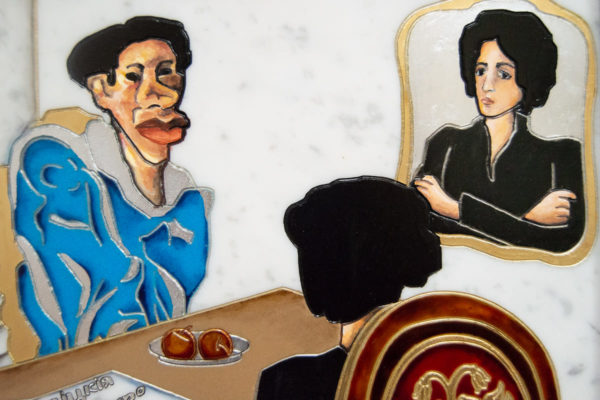 Каменная Картина Ева и ее автор № 01 (Сутин), изображение, фото 8