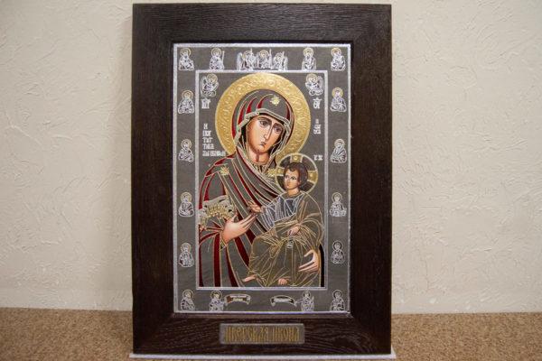 Икона Иверской Божией Матери № 3-08 из мрамора, изображение, фото 1