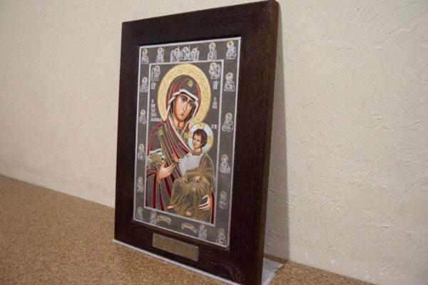 Икона Иверской Божией Матери № 3-08 из мрамора, изображение, фото 2