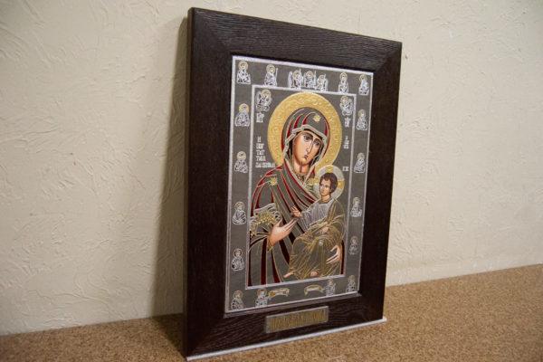 Икона Иверской Божией Матери № 3-08 из мрамора, изображение, фото 3