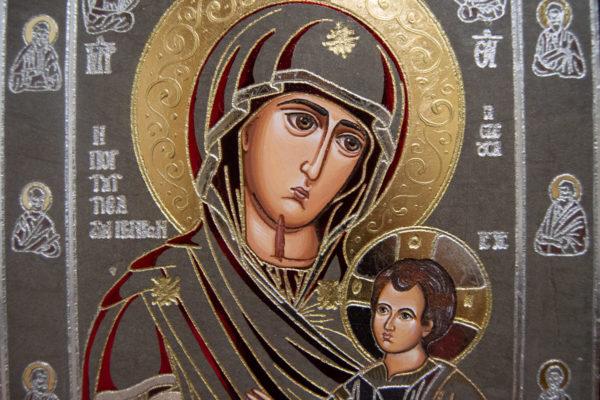 Икона Иверской Божией Матери № 3-08 из мрамора, изображение, фото 4