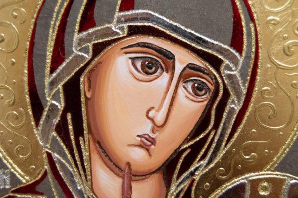Икона Иверской Божией Матери № 3-08 из мрамора, изображение, фото 5