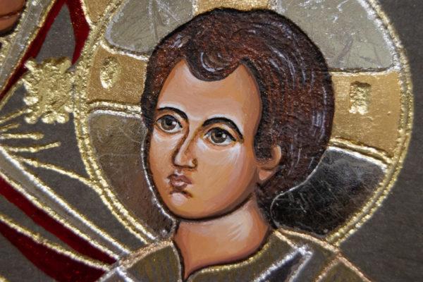 Икона Иверской Божией Матери № 3-08 из мрамора, изображение, фото 6