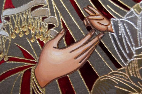 Икона Иверской Божией Матери № 3-08 из мрамора, изображение, фото 7