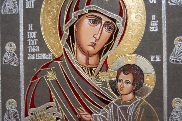 Икона Иверской Божией Матери № 3-08 из мрамора, изображение, фото 8