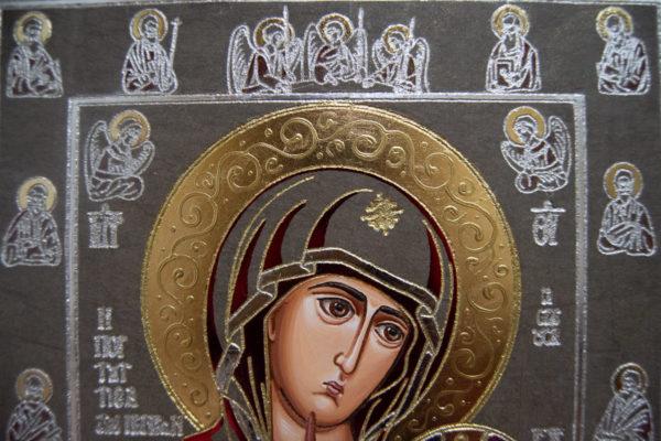 Икона Иверской Божией Матери № 3-08 из мрамора, изображение, фото 10