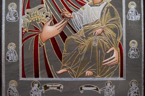Икона Иверской Божией Матери № 3-08 из мрамора, изображение, фото 13
