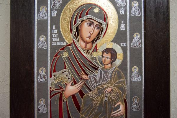 Икона Иверской Божией Матери № 3-08 из мрамора, изображение, фото 14
