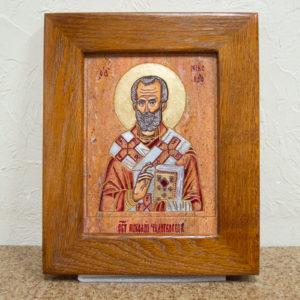 Икона Николая Угодника № 5-30 из мрамора, именная, изображение, фото 1