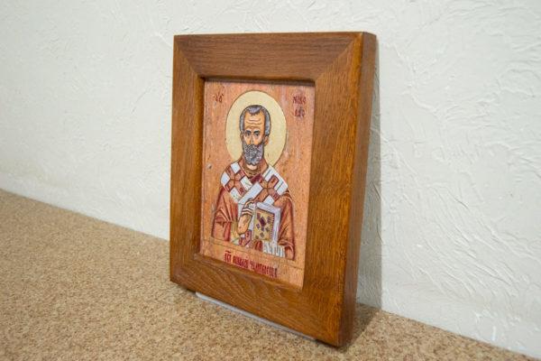 Икона Николая Угодника № 5-30 из мрамора, именная, изображение, фото 2