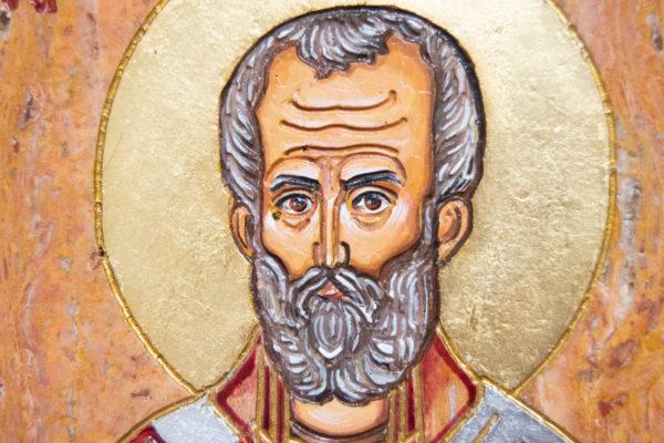 Икона Николая Угодника № 5-30 из мрамора, именная, изображение, фото 4