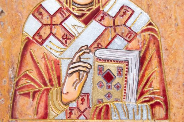 Икона Николая Угодника № 5-30 из мрамора, именная, изображение, фото 5