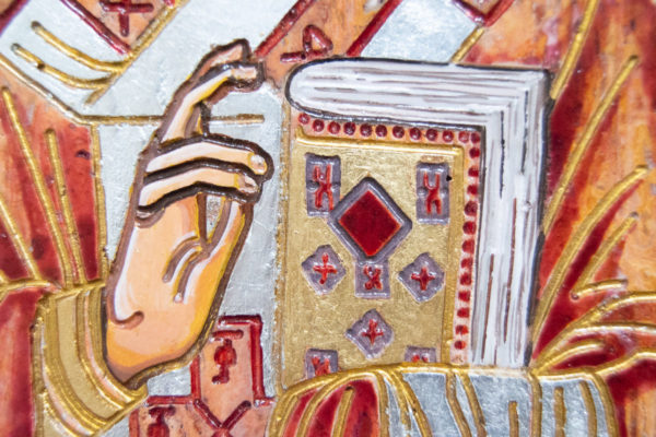 Икона Николая Угодника № 5-30 из мрамора, именная, изображение, фото 7