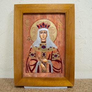 Икона Святой Елены № 02 из камня в Минске, каталог икон Гливи, изображение, фото 1