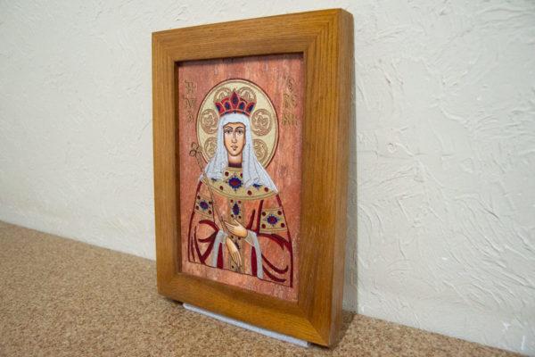 Икона Святой Елены № 02 из камня в Минске, каталог икон Гливи, изображение, фото 2