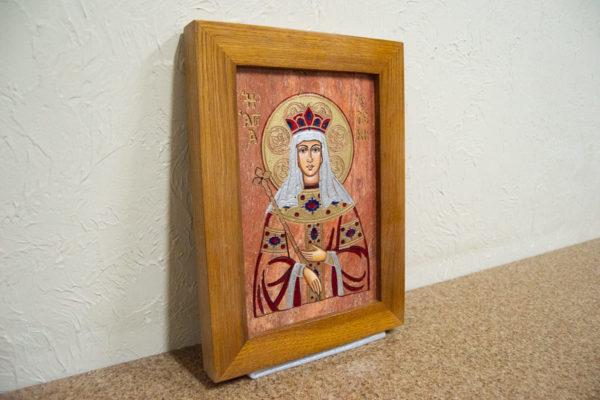 Икона Святой Елены № 02 из камня в Минске, каталог икон Гливи, изображение, фото 3
