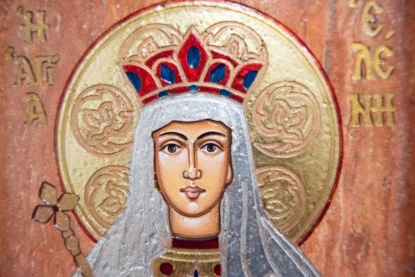 Икона Святой Елены № 02 из камня в Минске, каталог икон Гливи, изображение, фото 4