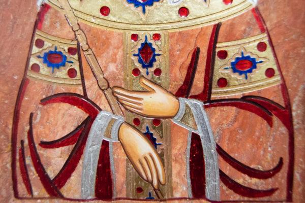 Икона Святой Елены № 02 из камня в Минске, каталог икон Гливи, изображение, фото 5