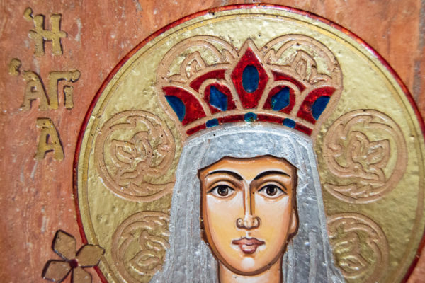 Икона Святой Елены № 02 из камня в Минске, каталог икон Гливи, изображение, фото 6