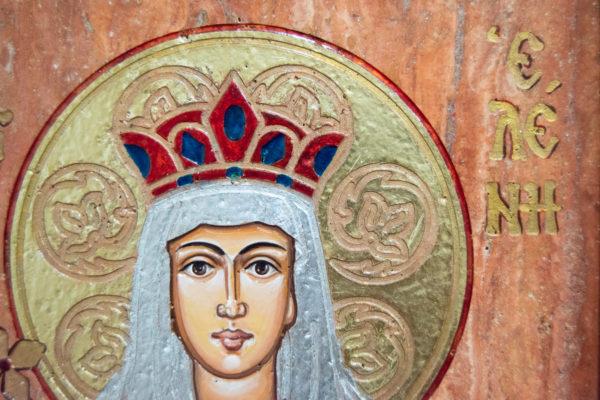 Икона Святой Елены № 02 из камня в Минске, каталог икон Гливи, изображение, фото 7