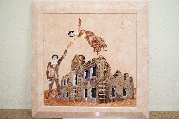 Каменная Картина Оммаж духовному дому отца Шагала № 04, изображение, фото 1