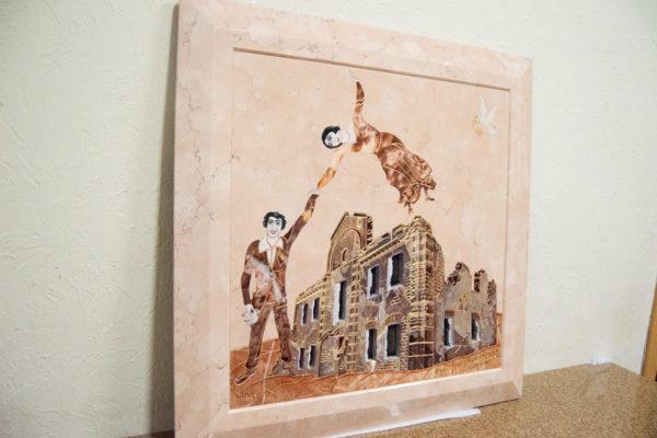 Каменная Картина Оммаж духовному дому отца Шагала № 04, изображение, фото 2