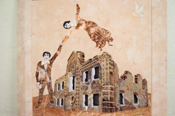 Каменная Картина Оммаж духовному дому отца Шагала № 04, изображение, фото 3