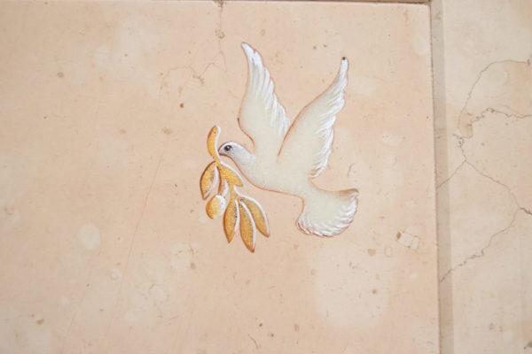 Каменная Картина Оммаж духовному дому отца Шагала № 04, изображение, фото 4