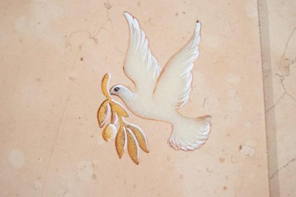 Каменная Картина Оммаж духовному дому отца Шагала № 04, изображение, фото 5