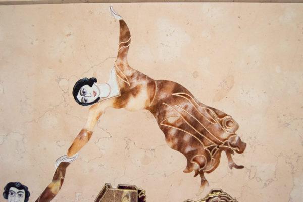 Каменная Картина Оммаж духовному дому отца Шагала № 04, изображение, фото 6
