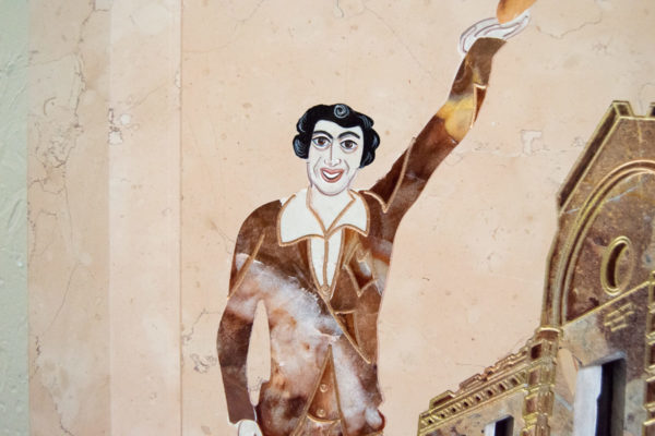 Каменная Картина Оммаж духовному дому отца Шагала № 04, изображение, фото 8