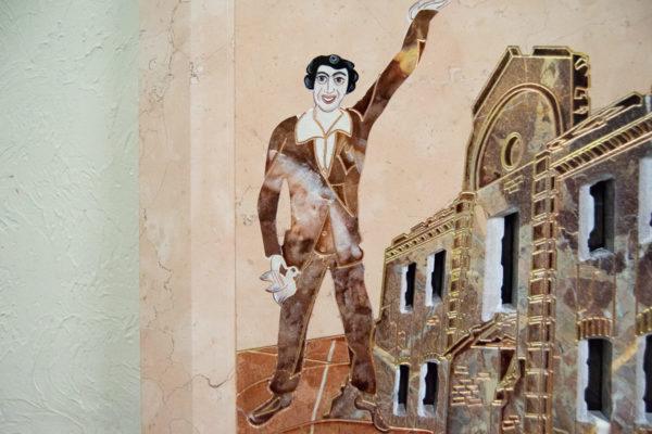 Каменная Картина Оммаж духовному дому отца Шагала № 04, изображение, фото 9