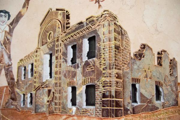 Каменная Картина Оммаж духовному дому отца Шагала № 04, изображение, фото 10