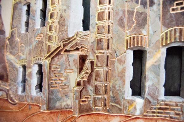 Каменная Картина Оммаж духовному дому отца Шагала № 04, изображение, фото 12