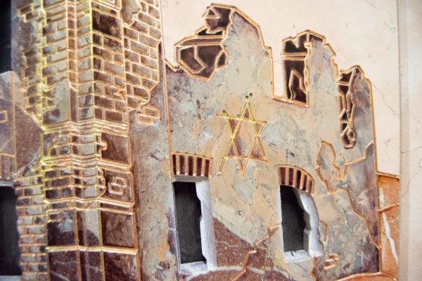 Каменная Картина Оммаж духовному дому отца Шагала № 04, изображение, фото 14